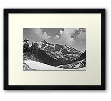 b&w mt shuksan, washington, usa Framed Print
