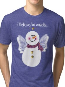 Snowman Angel Tri-blend T-Shirt