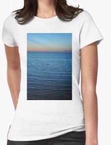 ocean sunset Womens Fitted T-Shirt