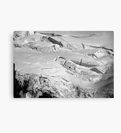 glacial flow b&w Canvas Print