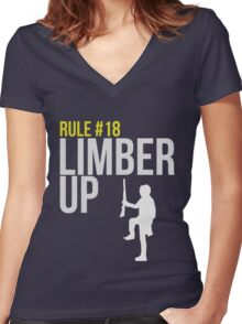 Zombie Survival Guide - Rule #18 - Limber Up Women's Fitted V-Neck T-Shirt