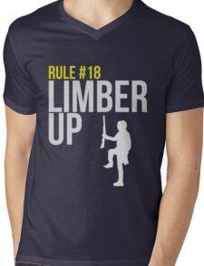 Zombie Survival Guide - Rule #18 - Limber Up Mens V-Neck T-Shirt