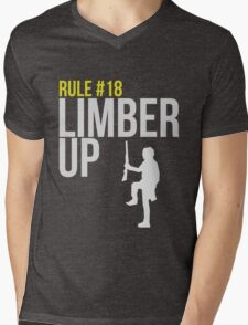Zombie Survival Guide - Rule #18 - Limber Up Mens V-Neck T-Shirt