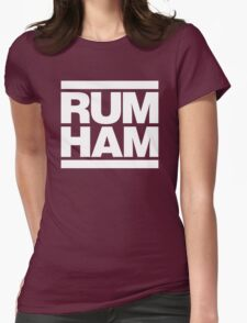 Rum Ham - Always Sunny in Philadelphia (White) Womens Fitted T-Shirt