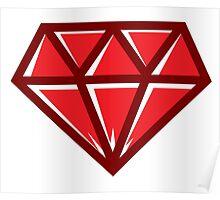 Diamond - Red Poster