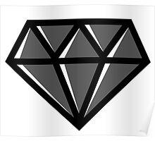 Diamond - Black Poster