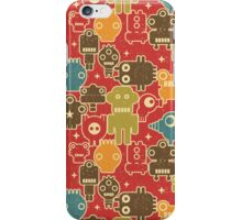 Robots on red. iPhone Case/Skin
