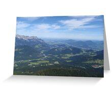 Salzburg from Kehlsteinhaus, Eagles Nest Greeting Card