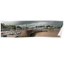Saundersfoot Pembrokeshire Panorama Poster