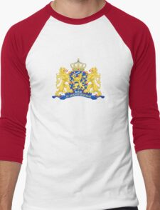 State Coat of Arms of Netherlands Men's Baseball ¾ T-Shirt