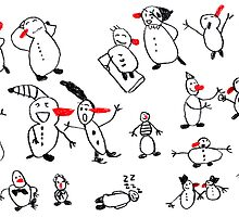 Snowmen Party by artJBP