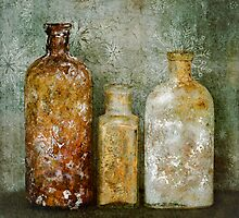 Old Bottles & Wallpaper by Barbara Ingersoll