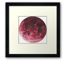 Watercolor Super Blood Moon Framed Print