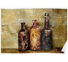 Old Brown Bottles Poster