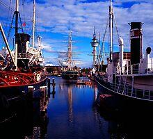 Ships in Bremerhaven by Michael Schmid