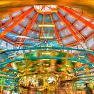 Carousel at Pullen park by vasu