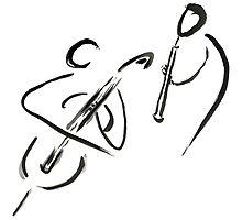 cello & oboe (haiga IX)  by dthaase