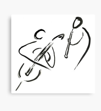 cello & oboe (haiga IX)  Canvas Print