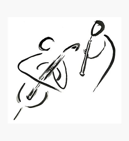 cello & oboe (haiga IX)  Photographic Print