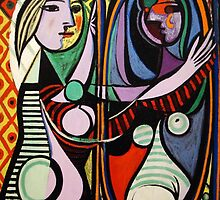 Picasso, Girl Before a Mirror by sbrosszell