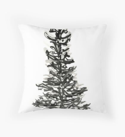 evergreen (haiga X) Throw Pillow