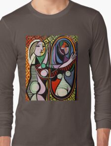 Picasso, Girl Before a Mirror Long Sleeve T-Shirt