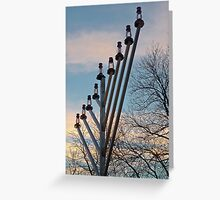 Chanukkah Sunset Greeting Card