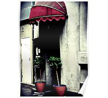 Awning in Red Poster