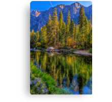 Reflections on the Merced river, Yosemite National Park Canvas Print