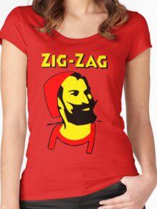 ZIG-ZAG PAPER Women's Fitted Scoop T-Shirt