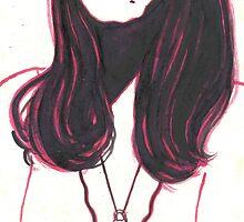 high contrast self portrait by purplestgirl