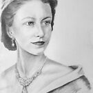 The young Queen Elizabeth II  by Felicity Deverell