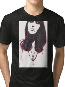 high contrast self portrait Tri-blend T-Shirt