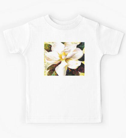 Tuscan Afternoon, Italian Magnolia, mediterranean colours Kids Tee