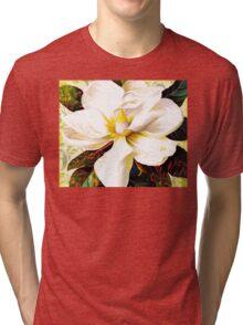 Tuscan Afternoon, Italian Magnolia, mediterranean colours Tri-blend T-Shirt