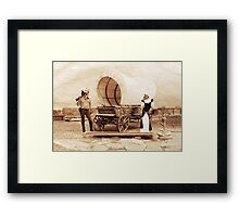 Old West Cowboy Cat and Saloon Kitty Framed Print