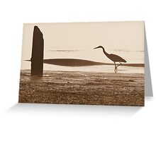 Heron Silhouette Greeting Card