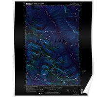 USGS Topo Map Washington State WA Mt Arriva 242733 1963 24000 Inverted Poster