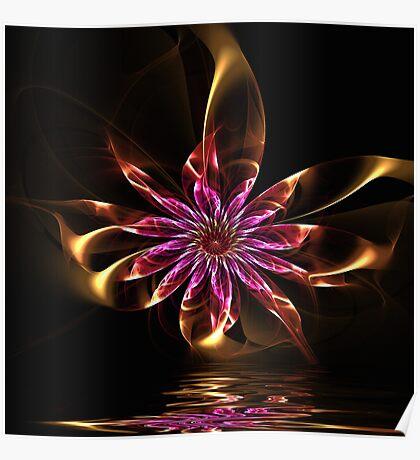 Flower Ribbon Poster