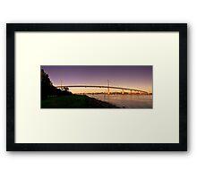 Westgate Bridge Panorama Framed Print