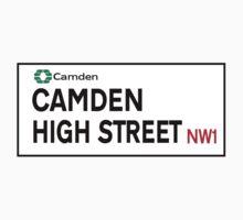 Camden High St., London Street Sign Kids Tee
