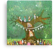 Green Tree Party Canvas Print