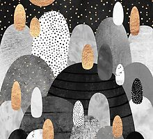 Little Land of Pebbles by night by Elisabeth Fredriksson