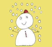 The Happy Snow Man by Iris Street One Piece - Short Sleeve
