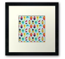 Fun Feathers (blue version) Framed Print