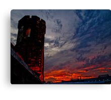 Prison Sunset Canvas Print