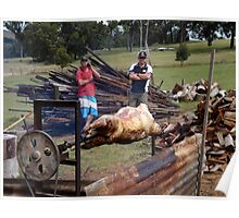 Sheep on a spit Poster