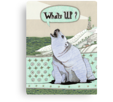 What's Up Bear Canvas Print
