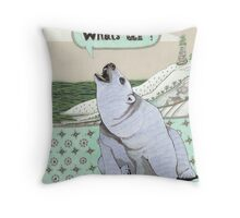What's Up Bear Throw Pillow
