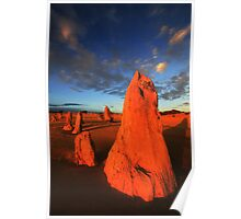 Pinnacles at Sunset Poster